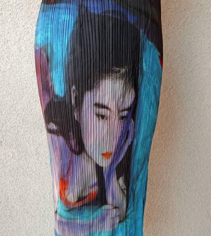 Issey Miyake Pleats Please Guest Artist Series No.2 Nobuyoshi Araki Dress 2