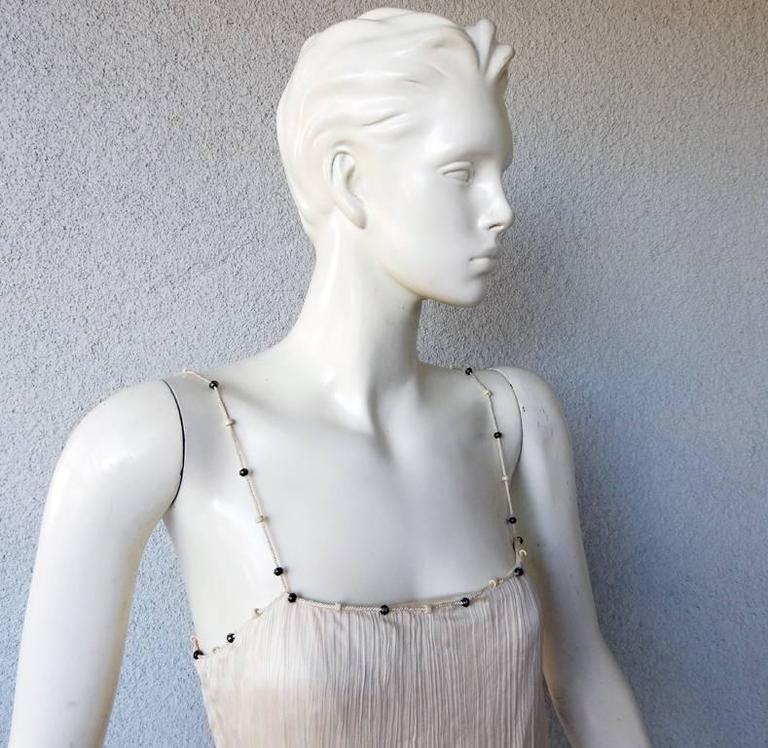 """Gray Christian Dior by Galliano """"Hommage to Mariano Fortuny"""" Delphos Dress For Sale"""