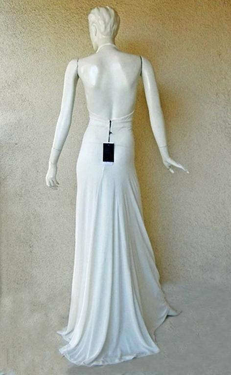 Dsquared2 Grecian Style Drape Runway Dress Gown + Fab Wide Gold Belt  New In New Condition For Sale In Los Angeles, CA