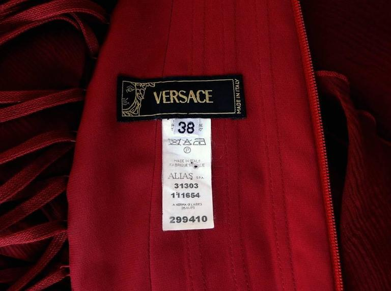 Versace 2003 Killer Corset Dress Gown 7