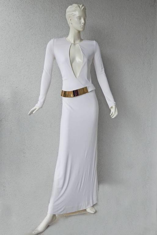 Iconic 1996 Gucci By Tom Ford Halston Inspired White Dress
