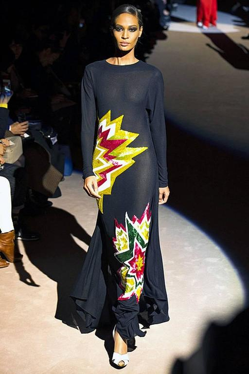Tom Ford Lichtenstein-esque Ka-Pow Explosive Appliques Dress Gown - New 2