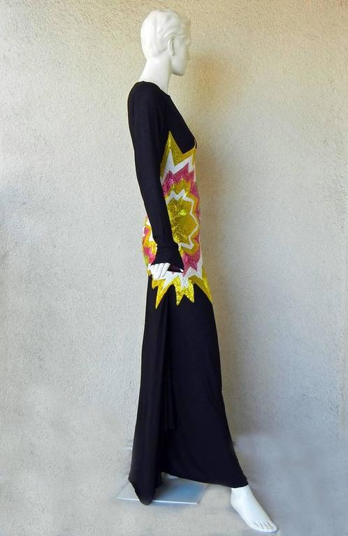 Tom Ford Lichtenstein-esque Ka-Pow Explosive Appliques Dress Gown - New 3