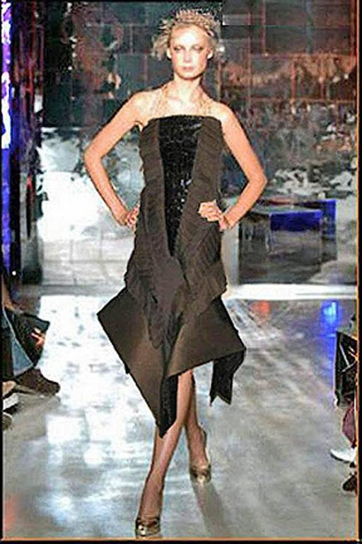 Rare Gianfranco Ferre Asymmetric Avant Garde Croco Evening Dress 2