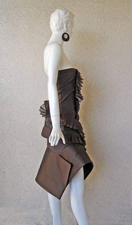 Rare Gianfranco Ferre Asymmetric Avant Garde Croco Evening Dress 4