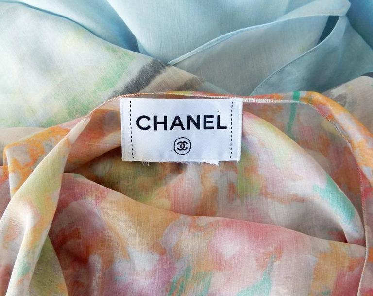 Women's Chanel French Riviera Caftan Dress with Painterly Quality For Sale