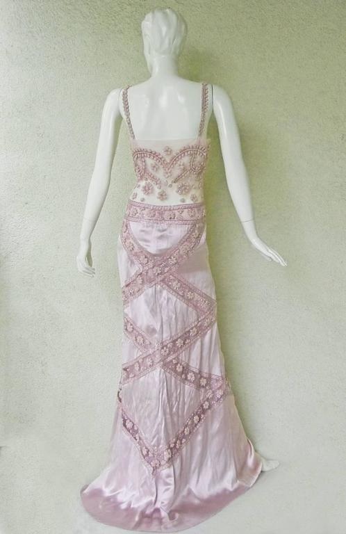 Women's Stunning Valentino Embroidered Evening Gown For Sale