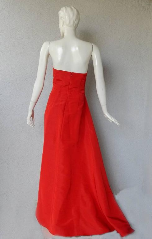Rosie Assoulin Exotic AsymmetricColorblock Dress Gown In New never worn Condition For Sale In Los Angeles, CA
