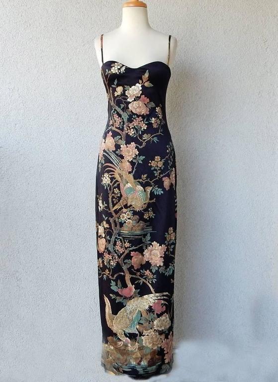 Roberto Cavalli Asian Inspired Silk Print Dress 2