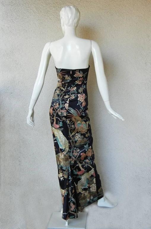Roberto Cavalli Asian Inspired Silk Print Dress 5