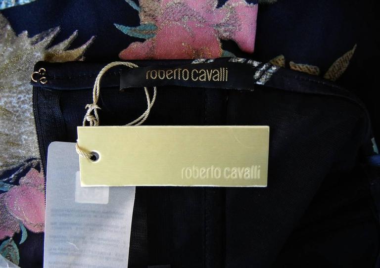 Roberto Cavalli Asian Inspired Silk Print Dress 6