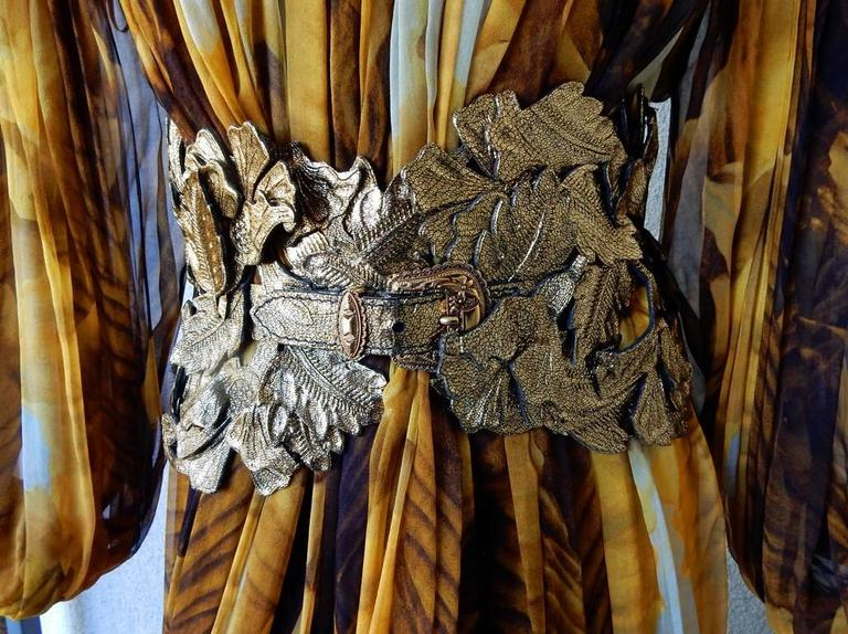 Alexander McQueen Off Shoulder Gilded Goddess Gown 5