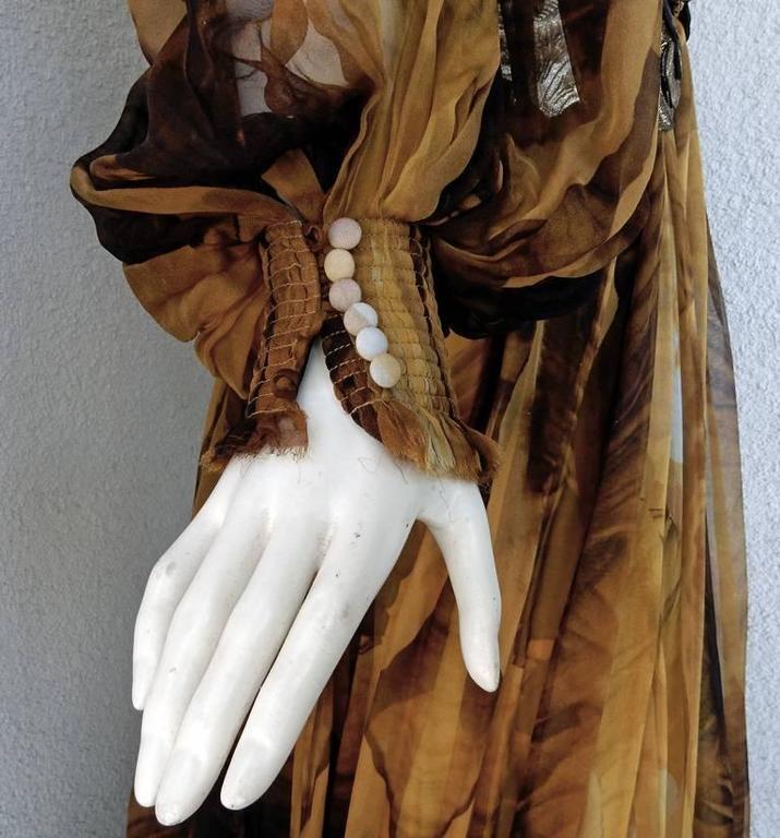 Alexander McQueen Off Shoulder Gilded Goddess Gown 6