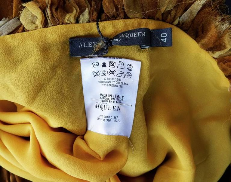Alexander McQueen Off Shoulder Gilded Goddess Gown 9