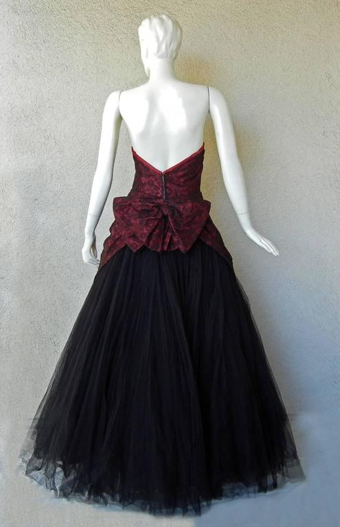Jacques Heim Haute Couture Chantilly Lace & Tulle Evening Dress Gown 4