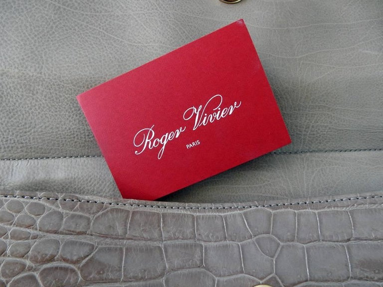 Women's Highly Coveted Roger Vivier Crocodile Handbag Special Order Ltd. Edition New For Sale