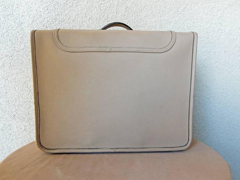 Gray  Hermes Custom Made-to-Order Shoe Travel Case Carrier Bag - Very Rare! For Sale