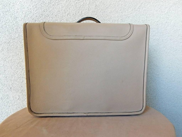 Gray  Hermes Custom Made-to-Order Shoe Travel Case Carrier Bag - Very Rare! For Sale