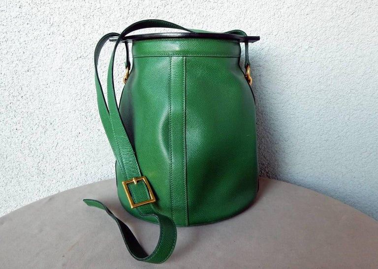 Rare Hermes Farming Bucket Shoulder Strap Bag 2