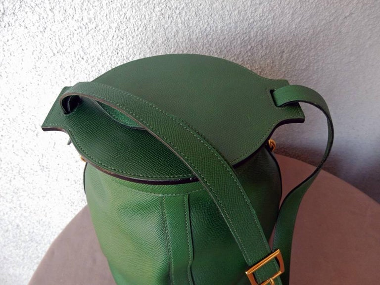 Rare Hermes Farming Bucket Shoulder Strap Bag 3