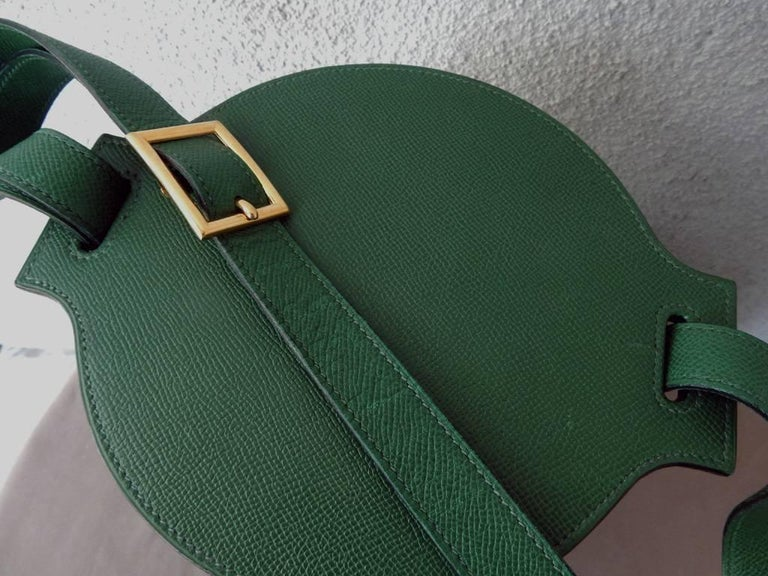 Rare Hermes Farming Bucket Shoulder Strap Bag 4