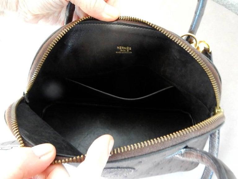 Women's  Hermes Genuine Ostrich Baby Bolide Handbag  Rare Unused For Sale