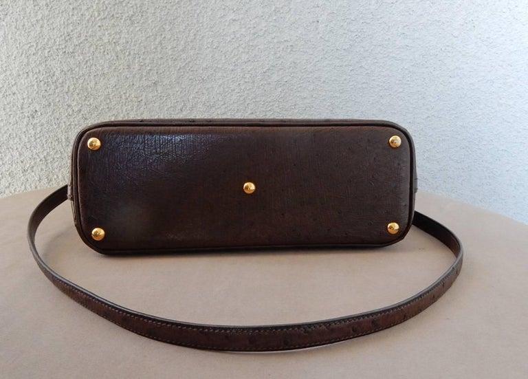 Hermes Genuine Ostrich Baby Bolide Handbag  Rare Unused For Sale 1