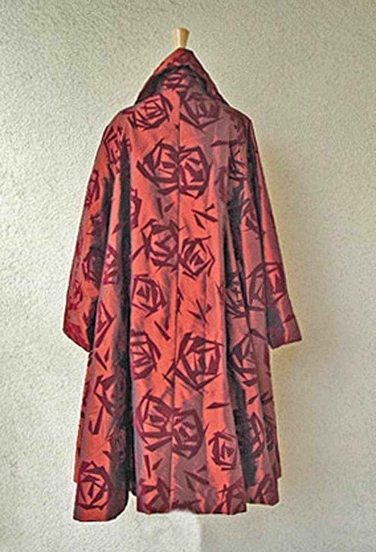 Romeo Gigli Runway Kimono Inspired Architectural Asian Inspired Coat  In Excellent Condition For Sale In Los Angeles, CA
