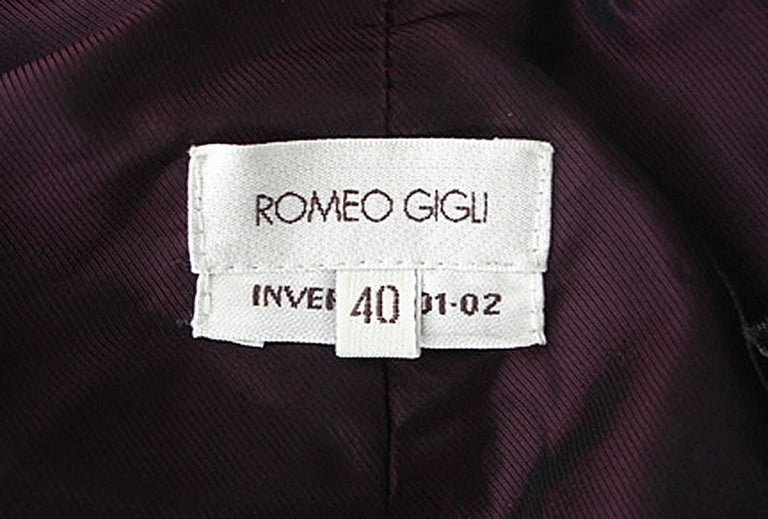 Women's  Romeo Gigli Runway Kimono Inspired Architectural Asian Inspired Coat  For Sale