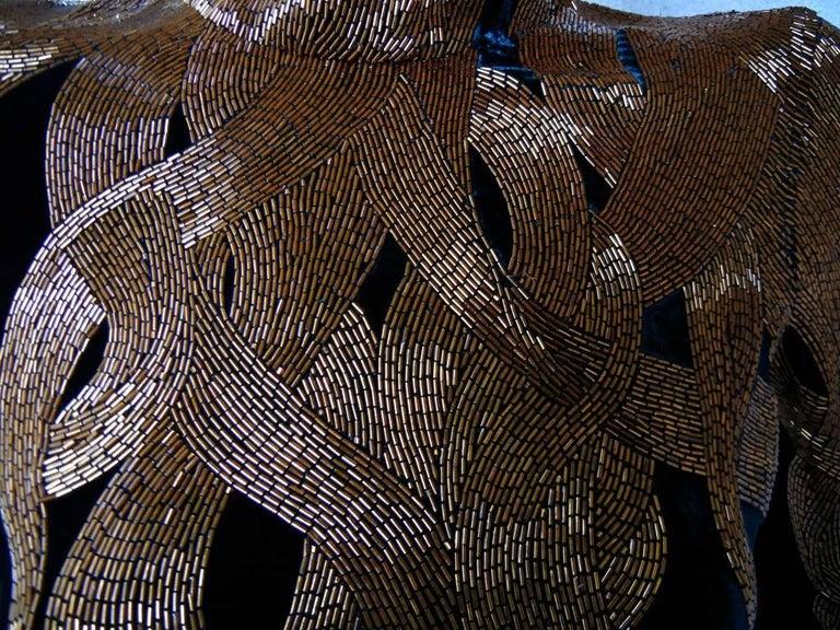 Black The NWT Alexander McQueen 2007 Velvet Beaded Flame Gown  Entrance Maker!  For Sale