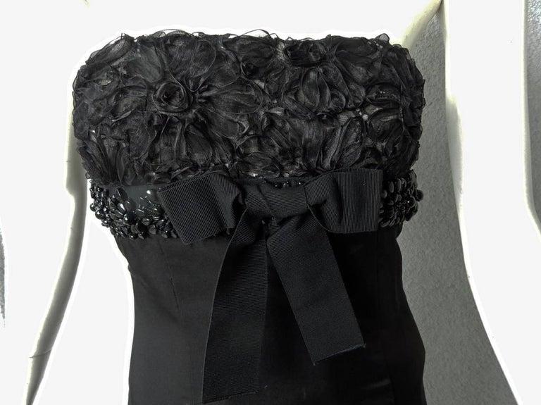 Giambattista Valli Strapless Embroidered Silk Gown 3