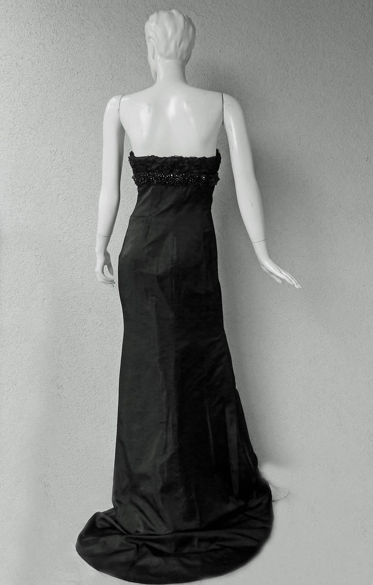Giambattista Valli Strapless Embroidered Silk Gown 5