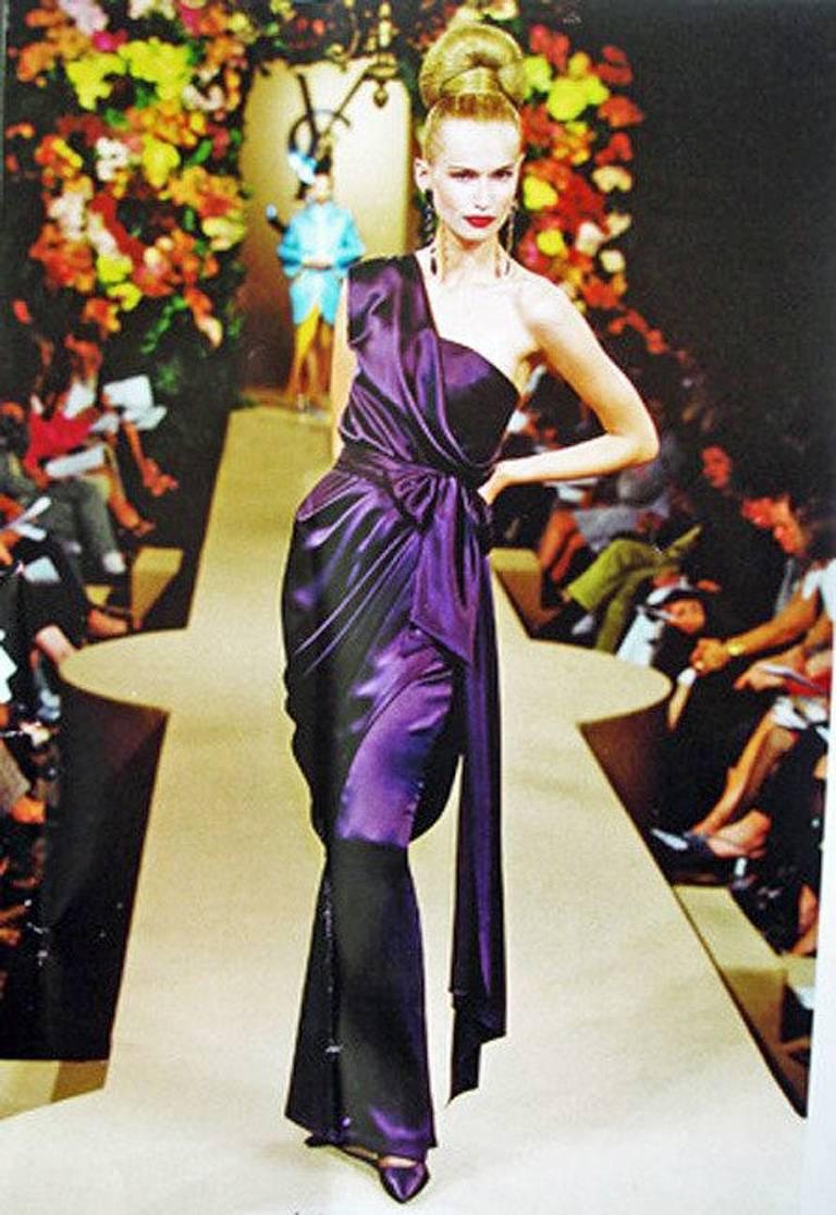 Yves Saint Laurent Haute Couture Red Carpet Runway Gown  2