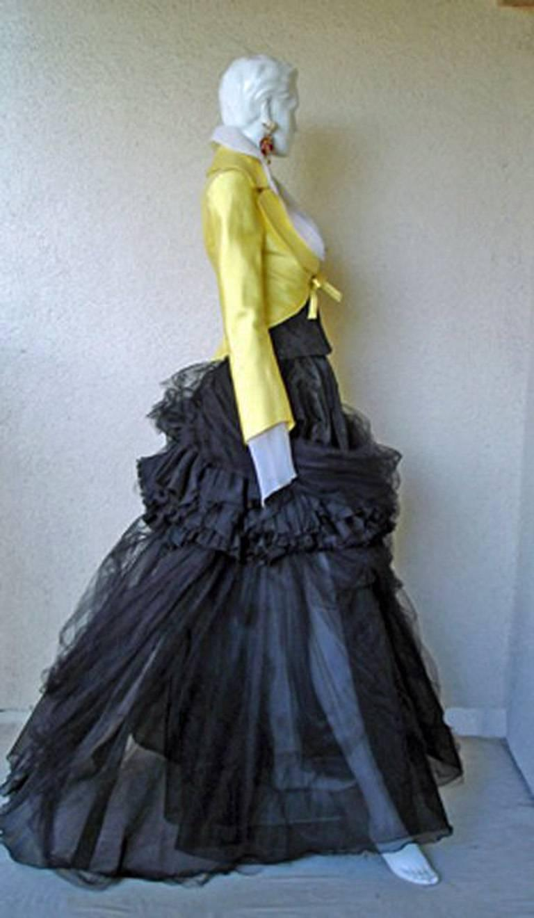 Black Rare Christian Lacroix 1999 Haute Couture Runway Ensemble - Collectors For Sale