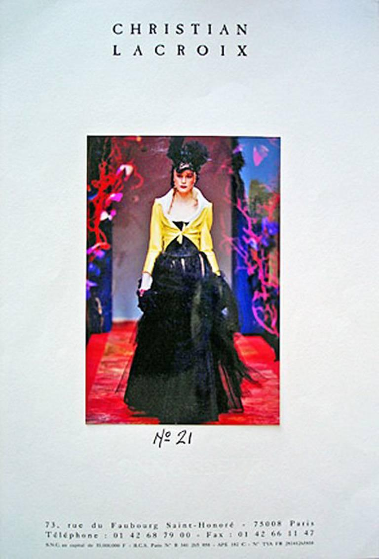 Rare Christian Lacroix 1999 Haute Couture Runway Ensemble - Collectors For Sale 1