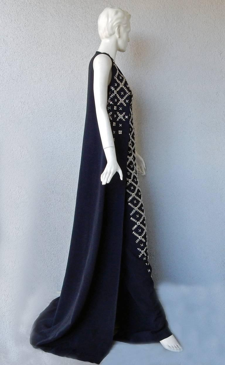 """Antonio Berardi Elegant Monastic Tabard Embellished """"Finale"""" Gown  Red Carpet  In New never worn Condition For Sale In Los Angeles, CA"""