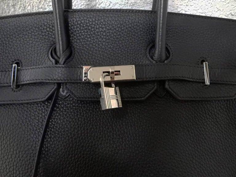 Hermes Birkin 35cm Black Togo Leather w/Silver Paladium Hardware & Box 2