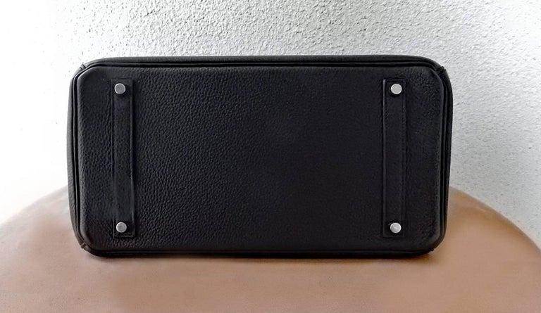 Hermes Birkin 35cm Black Togo Leather w/Silver Paladium Hardware & Box 5
