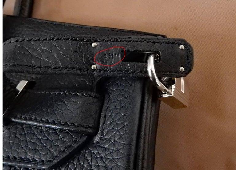 Hermes Birkin 35cm Black Togo Leather w/Silver Paladium Hardware & Box 6