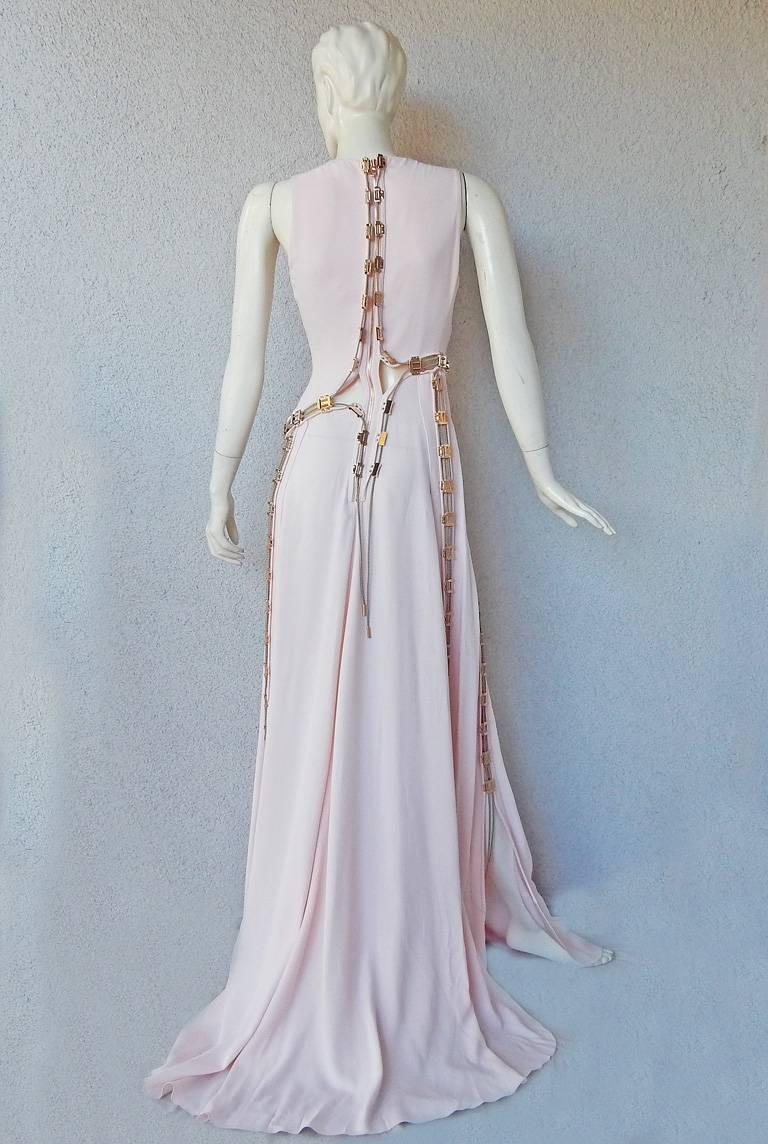 "Antonio Berardi ""Pretty in Pink""  Asymmetric Gown w/Rose Gold Hardware  For Sale 1"
