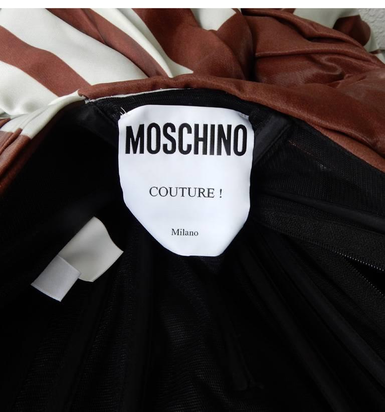 Moschino Couture Hershey Chocolate Bar Runway Gown   New For Sale 1