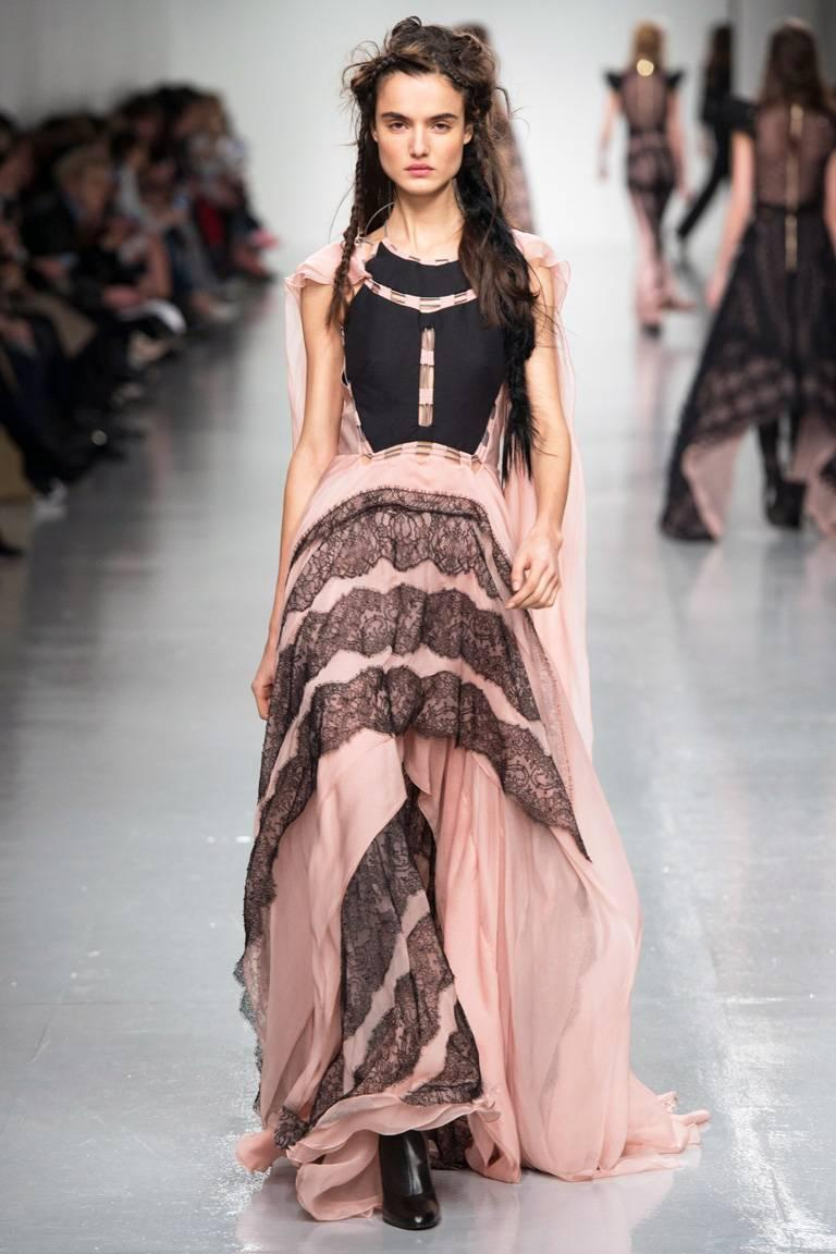 Antonio Berardi Runway Boho Peasant Dress Gown In New never worn Condition For Sale In Los Angeles, CA