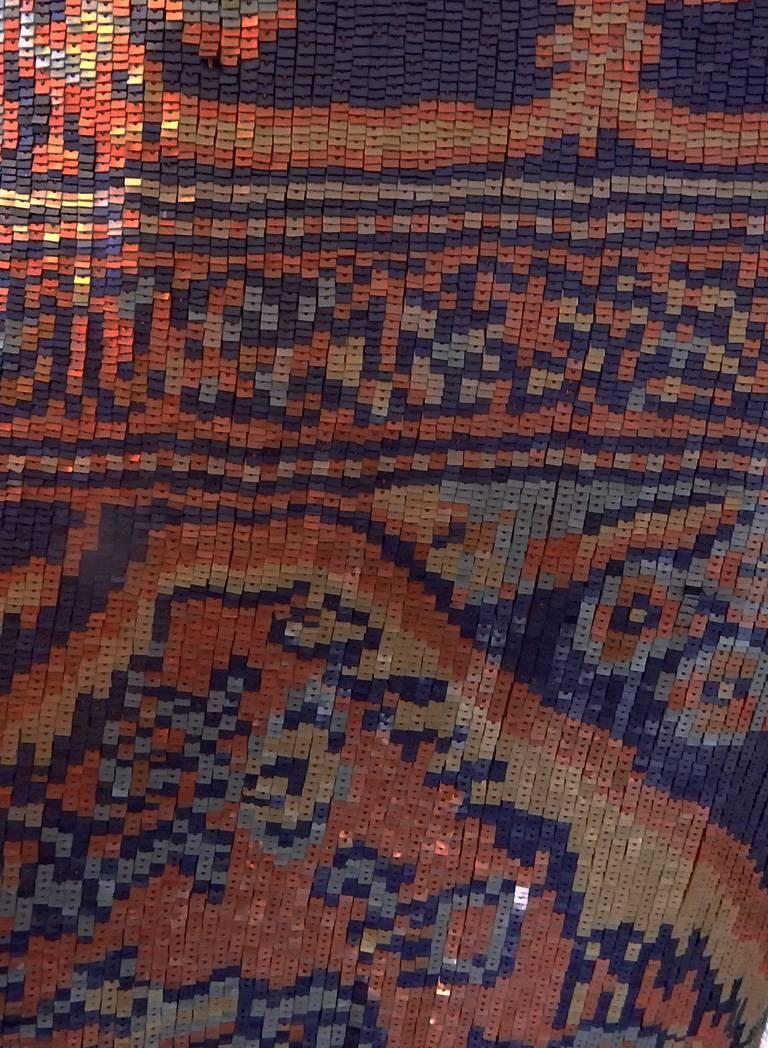 Women's or Men's Maison Margiela Runway Tapestry Beaded Evening Skirt Gown For Sale