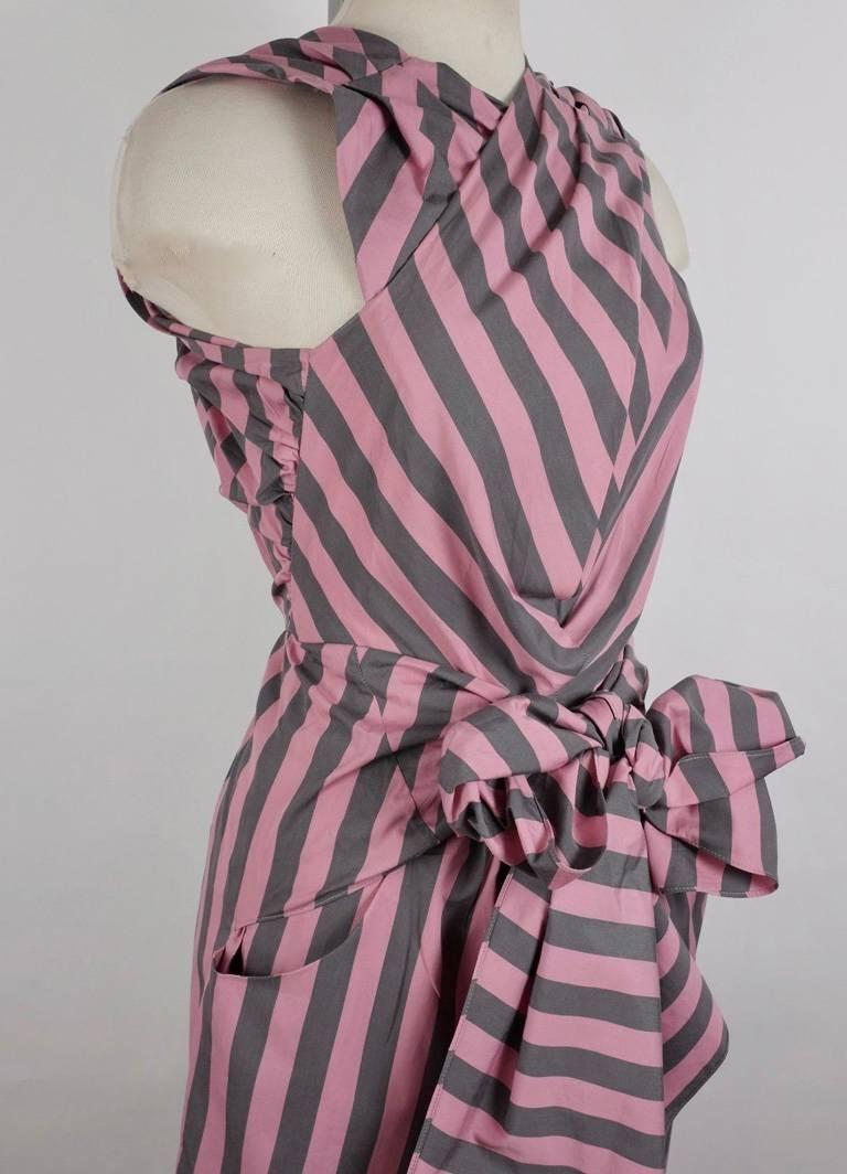 Tome Amal's Sexy Stripe Tie Waist Jumpsuit For Sale 1