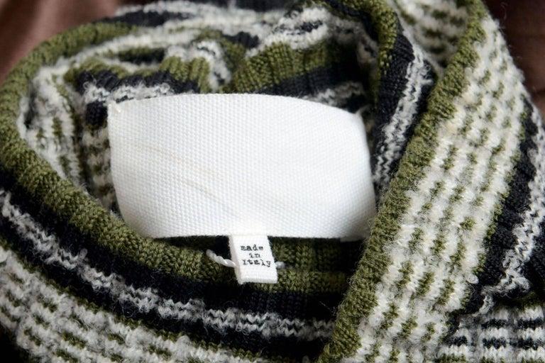 Masion Margiela Hi Fashion Mixed Media Assymetric Bow Sweater - Stunning, New M For Sale 1