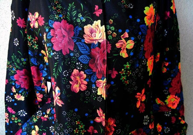 Black Comme des Garcons Lady Gaga Floral Hooded Runway Dress For Sale