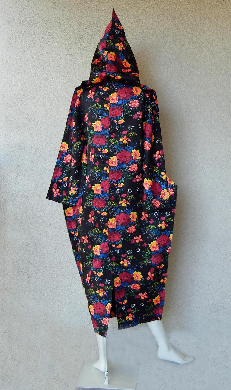 Comme des Garcons Lady Gaga Floral Hooded Runway Dress For Sale 2