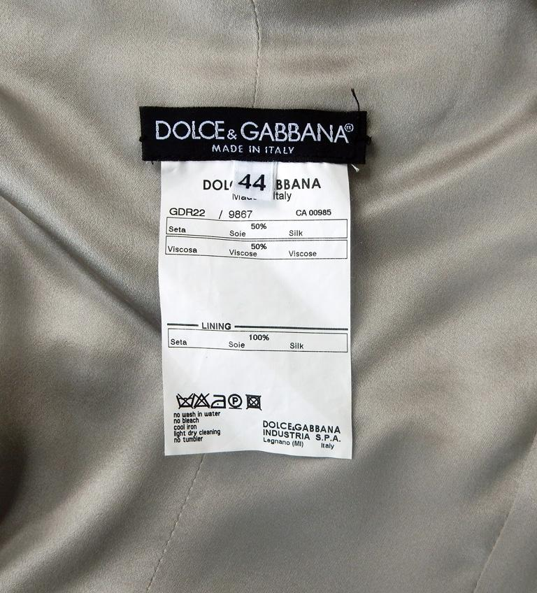 Dolce & Gabbana Naomi's Runway Flapper Fringe Corset Dress, 2003  For Sale 2