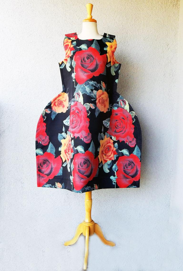 Comme de Garcons Tri-Dimensional Floral Pattern Flat Dress  In New Condition For Sale In Los Angeles, CA