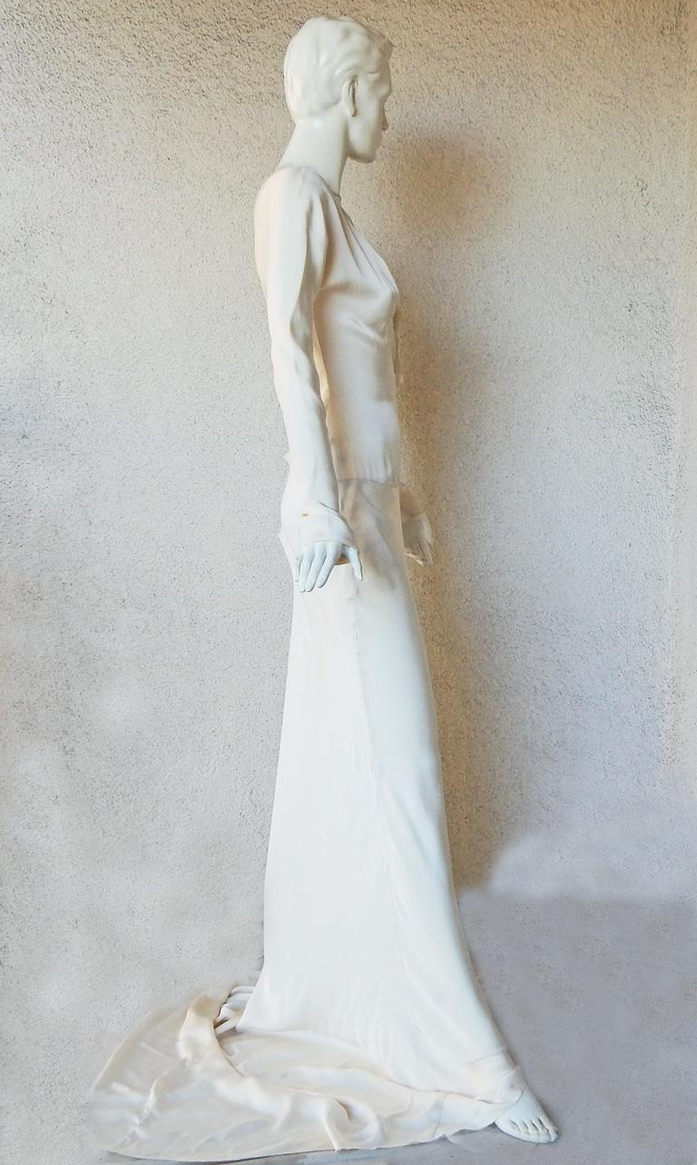 Gray Gucci Tom Ford Sexy Siren Old Hollywood Glamour Gown Worn on Red Carpet  New! For Sale